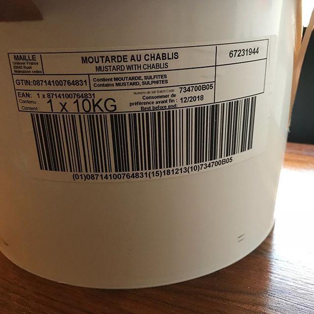 フランスから10kgのマスタードが届きました。#アクサングラーブルソレイユ